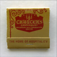 Chaucer's Canterbury Reception and Convention Centre 8305055 Matchbook (MK66)