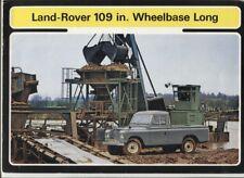 N°11176 /  LAND ROVER 109 Wheelbase Long r : catalogue english text 2.1973