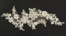 ivory bridal floral lace applique wedding tulle lace motif 21.7cmx8.5cm PerPiece