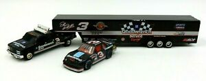NASCAR DALE EARNHARDT #3 GOODWRENCH CAR, DUALLY TRUCK & TRAILER SET ~ 1 OF 3,492