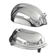 IKEA Fagleboda Bin Pull Handle Chrome Set of 2 - Dresser Cabinet Drawer Hardware