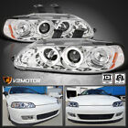 For 1992-1995 Honda Civic 234dr Clear Led Halo Projector Headlights Lamps