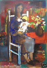 Jean-Étienne MULLER (1923-1959) Technique mixte de 1958 Cubisme Cubism Cubiste