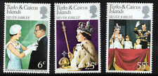 TURKS & CAICOS ISLANDS QE II 1977 Silver Jubilee  Set SG 472 to SG 474 MNH