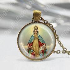 Madonna of Monte Berico Catholic Necklace Medal Mary w Child Religious Pendant