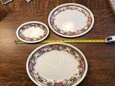 Three Vintage Johnson Bros. China England Devonshire Platters #118579