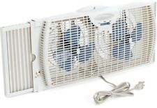 Small Window Fan Dual Blades Reversible Air Flow Control 6 Inch Holmes White