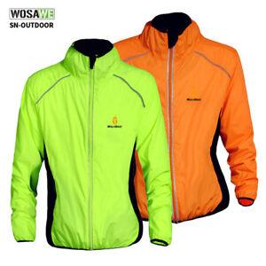 Men's Cycling Jacket Windbreaker Long Sleeve Coat Jersey Bike Clothing 5 Colors