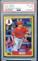 2017 Topps Silver Pack Promo Angels MIKE TROUT Baseball Card PSA 9 MINT Low Pop