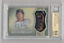 PAUL GOLDSCHMIDT 2017 TOPPS DYNASTY GOLD CAMO 3 COLOR PATCH AUTO #2/5 BGS 9.5 10