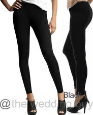 Black Thick 120D Woman Opaque Footless Tights Stretch Pants Stockings UK 6 -12