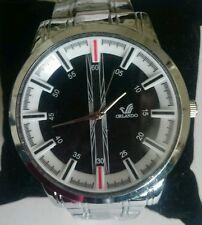 Men's Luxury Silver Sports Dress Watch Stainless Steel