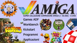 6 DVD SUPER COLLEZIONE AMIGA 500, 600, 1200 (+ 50.000) GAMES ADF PER GOTEK E PC
