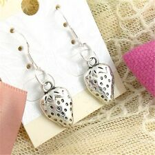 new Wholesale Lady 2 Pair Charm Fashion Jewelry Silver Strawberries Earring