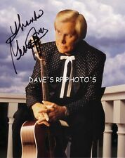 Signed George Jones 8X10 Color RP w/coa Photo Free Shipping