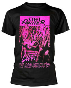 Steel Panther 'Sunset Strip Live' (Black) T-Shirt - NEW & OFFICIAL!
