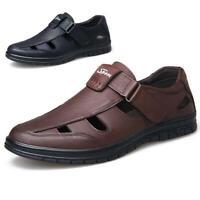 Men Formal Sandals Genuine Leather Comfortable Breathable Fisherman Shoes Summer