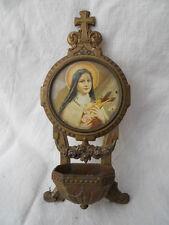 Ancien bénitier de voyage décor Marie