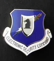 USAF AIR FORCE ELECTRONIC SECURITY COMMAND SHIELD HAT LAPEL PIN BADGE 1.5 INCHES