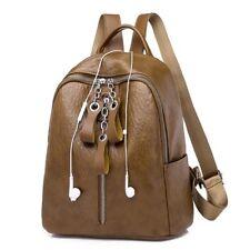 Soft PU Leather Backpack Women Vintage College Girls Student School Bags Mochila