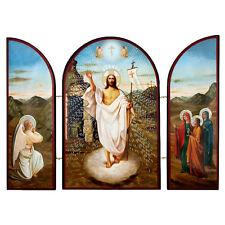 Icone Triptyque Résurrection du Jésus Christ icone religieuse chrétienne cadeau