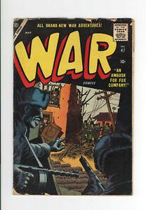 WAR COMICS #47 - VERY RARE ATLAS COMICS Pub. - 1957