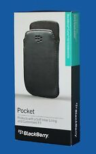 100%GENUINE BlackBerry Curve 9370,9360,9350 Leather Pocket -  Black - NEW