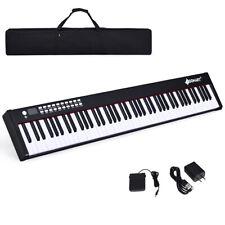 BXII 88 Key Digital Piano MIDI Keyboard w/Bluetooth &MP3 Practice Black