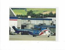 Bristow helicopters AS332L at Aberdeen airport cont/l  postcard
