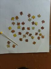 Dollhouse Miniatures Maple Leaves in fall colors. 1:12 & 1:24 scale
