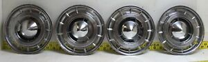 """Used OEM GM Set of 4 15"""" Hub Caps Wheel Covers 1960 Buick Electra LeSabre (3027)"""