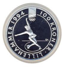 NORWEGEN - 100 Kroner 1993 - EISTANZ - SILBER mit ZERTIFIKAT - ANSEHEN