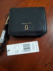 Marc Jacobs Women's The Softshot Mini Compact Wallet Black One Size
