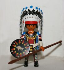 PLAYMOBIL chef indien - coiffe à plumes - western - cowboy