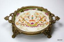 Old Chinese Hua Rong Tang Zhi Handpainted Marked Porcelain Bronze Dish
