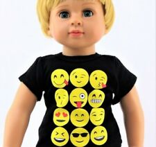 Emoji T Shirt for 18 inch Doll Clothes American Girl or Boy Wow Variety Lovvbugg
