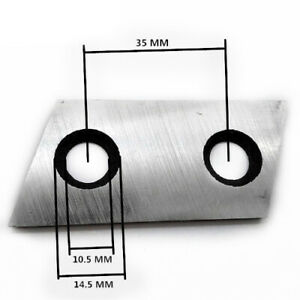 Planer Knives 2.37Inch 60mm Replace For Eco-shredder ES1600; McCulloch MCS2001