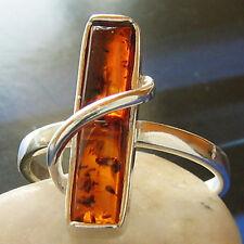 Bernstein  Silber 925 Ring  verschiedene Größen R0020