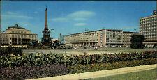 DDR Breitbild-AK LEIPZIG Panorama Postkarte mit Post Hotel Deutschland um 1967