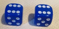 2 x Blue Dice Dust Valve Caps novelty
