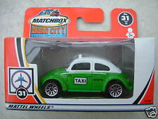 Matchbox  VW Volkswagen Mexico Taxi Beetle - white and green