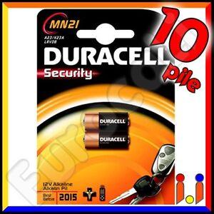 10 PILE DURACELL 12v MN21 MN 21 A23 Pila Batterie batteria Alcaline