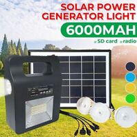 Outdoor Solar panel Generator FM/AM Speaker music mp3 player LED Lighting System