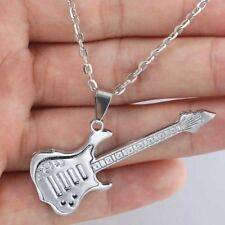 Electric Guitar Necklace Chain Pendant Musical Instrument Strings Music 3FOR2 UK
