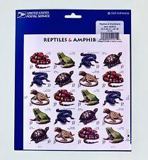 Usps Amphibian Reptile Stamps 37 Cents Frog Lizard Turtle King Snake Salamander