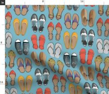Shoes Feet Footwear Sandals Sneakers Tennis Style Spoonflower Fabric by the Yard