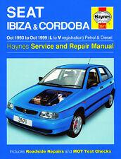 3571 Haynes Seat Ibiza & Cordoba (octubre 1993-octubre de 1999) la L a V Manual De Taller