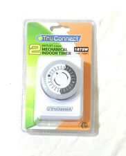 TruConnect Dual Outlet Indoor Lamp, AC, and Appliance Mechanical Timer ~ New