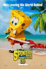 THE SPONGEBOB MOVIE SPONGE OUT OF WATER MOVIE POSTER 2 Sided ORIGINAL 27x40