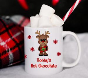 Personalised Christmas Mug Cup Kids Children's Hot Chocolate Xmas Eve Gift
